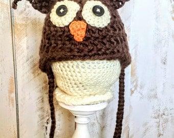 Crochet Baby Owl Beanie