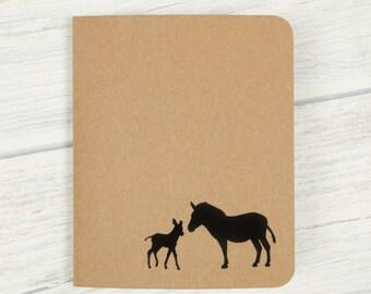 ZEBRA Notebook, Blank notebook, Animal gift, Eco friendly, Zebra print, Cute stationery, Cute notebook, Travel journal, Africa, Note books