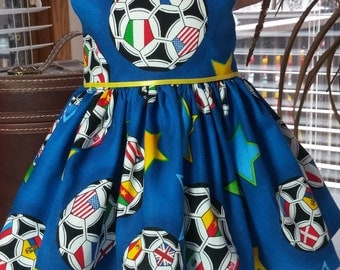 Olympic Soccer dress fits 18 inch dolls including American Girl Doll
