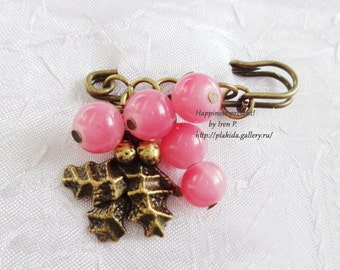 ACTION !!! 1 + 1 = 3 If you order two brooches, you get third one for free!,safety pin brooch, gifts for mothers,mothers day gift