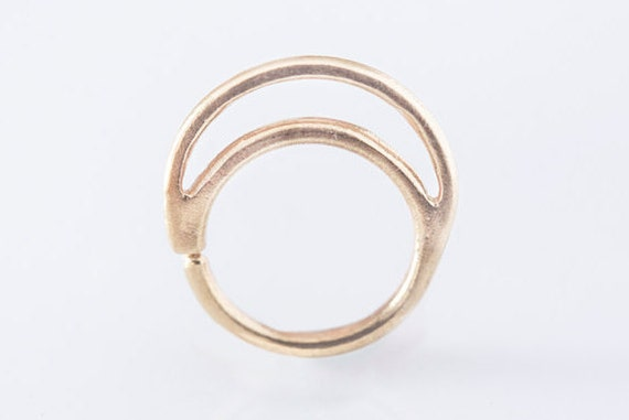 moon nose ring piercing 24k gold plated sterling silver