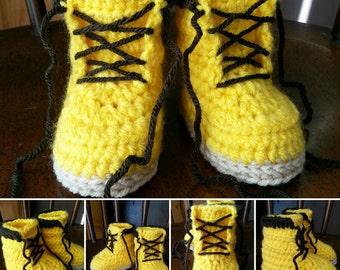 Construction/ Work/ Woodsmen Boots, Made-to-Order Crochet