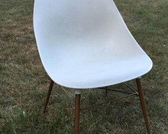Sam Avedon, Alladin Plastic, Molded Side Chair, Mid Century Modern Office Chair, Desk Chair, Plastic Shell Chair, Mid Century Bucket Chair