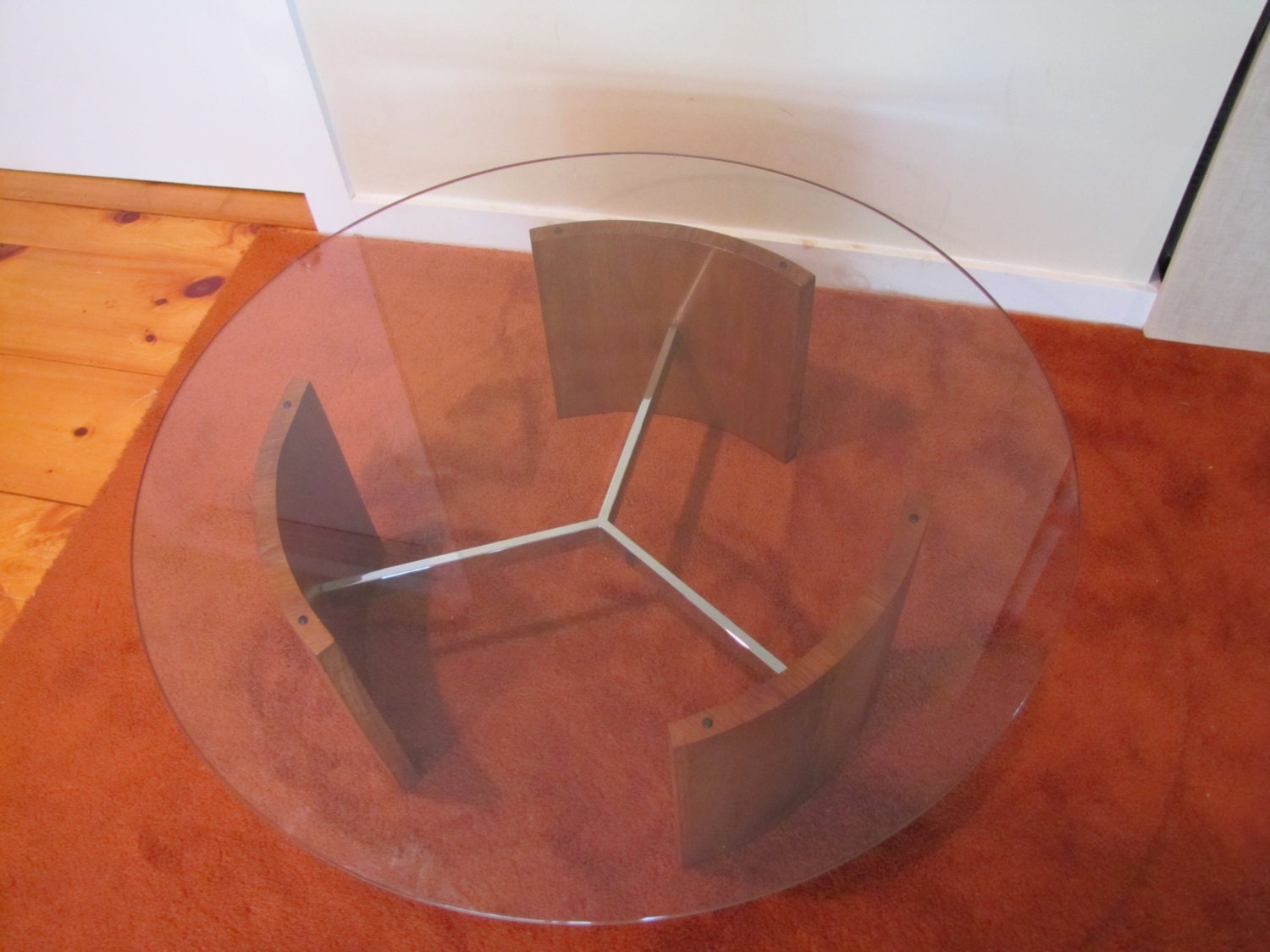 Vladimir Kagan Radius Coffee Table Mid Century By Capecodmodern