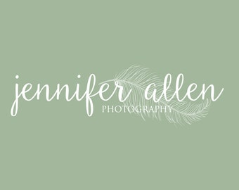 photography logo, photographer logo, feather logo, photography watermark, premade logo, premade logo photography, handwritten logo