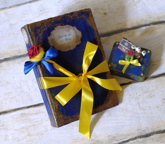 SET Of 3: Beauty And The Beast Wedding Guest Book And Photo