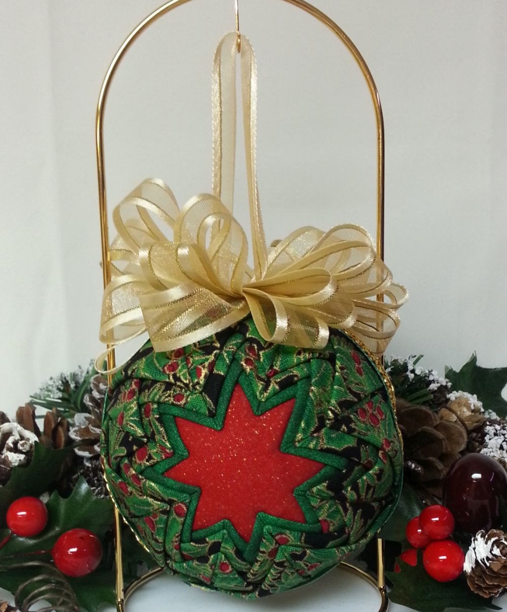 Christmas Ornament Handmade Quilted Christmas Ornament