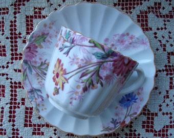 Chelsea Garden Spode Copeland's China England - Vintage Tea Cup and Saucer