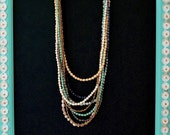ANJELINA Style- Layered Multicolor Statement Piece Ugandan Paper Bead Necklace