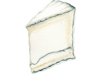 Humboldt Fog Blue Cheese Illustration Art Print