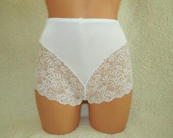 high waist panties, high waist underwear, russian panties, retro lingerie, vintage high waist underwear, handmade lace lingerie, bbw, plus