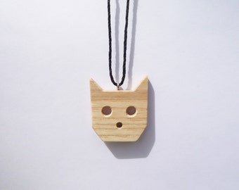 TERRILL TACTILE Ash Cat Necklace