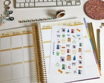 Household Chore Stickers! 38 MATTE Planner Stickers.