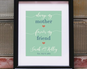 Mom from Daughter from Mom Daughter Gifts for Mom from Daughter Mom Wall Art Mom Art Gift Mother Mom Daughter 47th Birthday Gift for Her Art