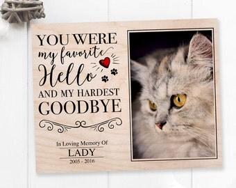 Cat Memorial Gift, Cat Sympathy , Personalized Pet Memorial, Pet Sympathy Gift, Gift For Cat Lover, Pet Bereavement, Pet Memorial, Cat Loss