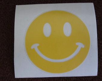 Happy Face Vinyl Decal