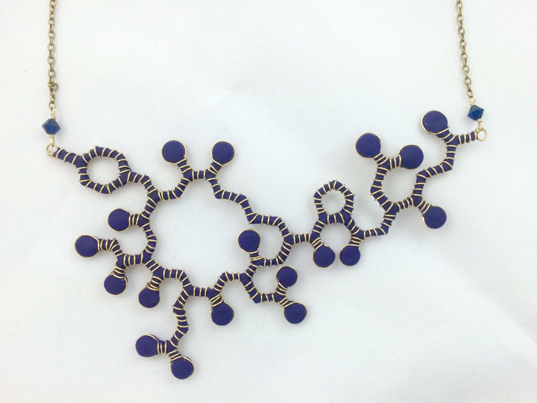oxytocin molecule necklace by theshinyblackhole on etsy