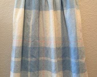 Blue and white plaid Walnut Sport skirt