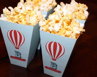 Up, Up and Away Popcorn Box, Up Baby Shower Popcorn Box, Up Popcorn Box, Up Baby Shower Printables