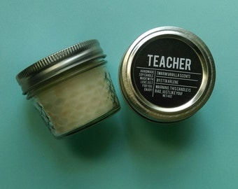 Teacher Candle - Scented Soy Candle - Back to School - Gift for Teacher - by Etta Arlene Candles