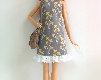 Gray Loose Dress (for Barbie Fashionistas/Style Dolls)