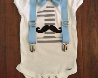 Mustache Birthday Onesie or Tshirt