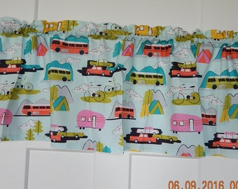 Bike, R.V,Camper, Boat Summer Lets go Adventure Curtain Valance