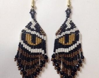 Rocaille Tiger Eye Earrings