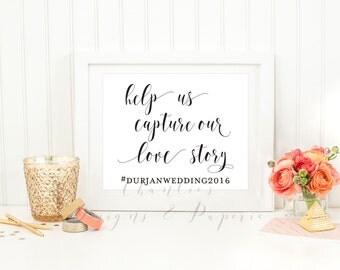 Printable Wedding Sign Hashtag | #Hashtag  Wedding sign | Wedding Hashtag | Printable Hashtag Sign | Editable Hashtag Sign | Wedding Signs