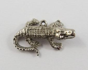 Alligator Silver Vintage Charm For Bracelet