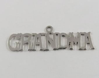 GRANDMA Sterling Silver Vintage Charm For Bracelet