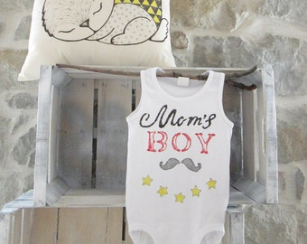 Hand painted cotton baby Bodysuit.