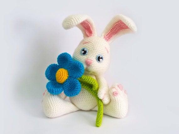 Easter bunny crochet easter rabbit crochet plush like this item ccuart Choice Image