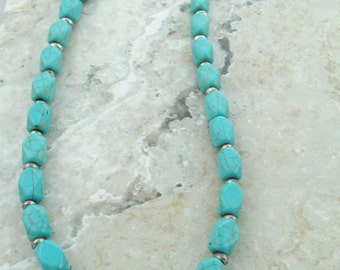 Jewelry Turquoise, Chunky Necklace, Handmade Necklace, Stone Jewelry, Big Chunky Necklaces
