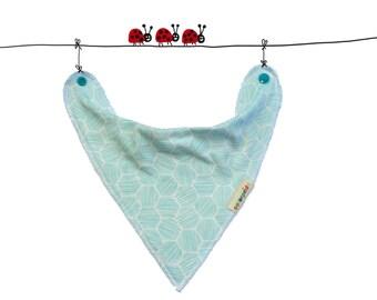 organic bib blue, blue drool bib, organic baby bandana bib, baby organic unisex, baby gift, newborn gift idea, drool bib, organic baby set