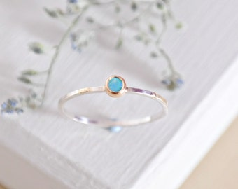 Opal Ring, Sterling Silver, Gold Opal Ring, Gold Stackable Ring, Gemstone Stacking Ring, Opal Ring, 9ct Gold Ring, October Birthstone