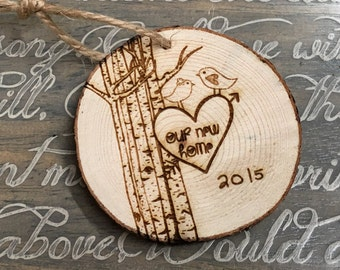 Our New Home Christmas Ornament, Family Ornament, Tree Ornaments, Christmas Ornament, Personalized Christmas Ornaments, Bird Ornaments