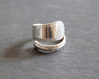 Beautiful Solid Silver Spoon Handle Ring