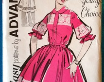 "Vintage 1962 dress sewing pattern - Loretta Young's Choice - Advance 2840 - size 14 (34"" bust) - 1960's"