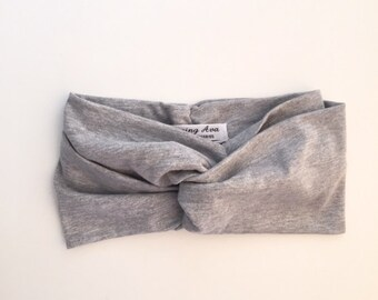 Marl Grey Jersey Turban Headband