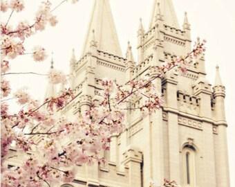 Salt Lake City Temple, Spring