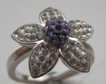 Crystal Daisy Ring