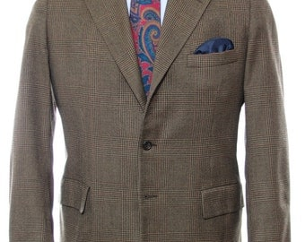 41R - Hickey-Freeman Customized Clothing 1969 vintage flannel check sport coat
