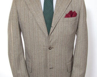 42-43L - Cable Car Clothiers vintage wool three-button sack sport coat