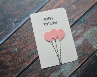 3d Happy Birthday balloon birthday card / Card Balloon Birthday 3d