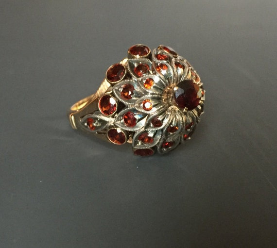 sale vintage garnet thai princess harem ring 14k by