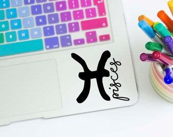 Pisces Vinyl Window Decal - Zodiac Sign Sticker - Laptop Decal