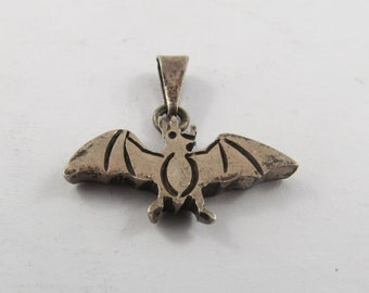 Sterling Silver Charm of Bat.
