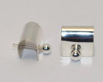 Silver Bar Stud Earrings, Tiny stud earrings, Small post earring, Small cartilage earring, 20g helix earring stud, Cartilage piercing