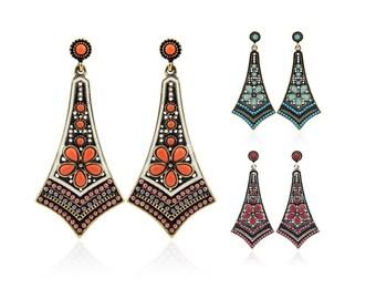 Bohemian Vintage Style Drop Stud Earrings (ERa) Ear rings